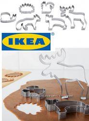 ІКЕА. Формы для выпечки печенья - 6шт. Нержавеющая сталь.