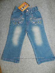Продам джинсики на девочку 74-80см