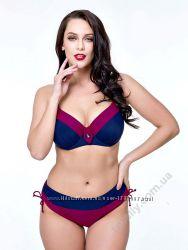 Купальник Далила, раздельный, plus size, тёмно-синий, пурпурный, большие ра