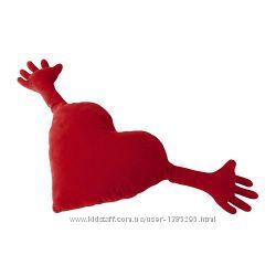 В наличии подушка-игрушка Сердце икеа ikea