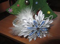 Повязка, ободок Снежинка, готовимся к Новогодним праздникам