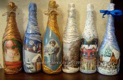 Новогодние подарочные бутылки есть в наличии