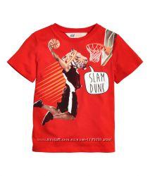Красная футболка для мальчика размер 92,  от h&m
