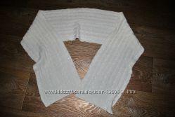 Шарф белый с люрексом блестящий модный кремовый