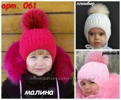 Шапки зимние и шарфы для девочки