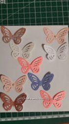 Вырубка ажурных бабочек для скрапбукинга