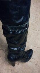 Сапоги кожаные зимние