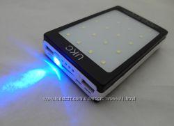 Power Bank UKC 15000mAh зарядное устройство, солнечная батарея, фонарь
