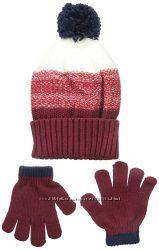 Наборы шапка рукавички Osh Kosh и Carters, 2-4T