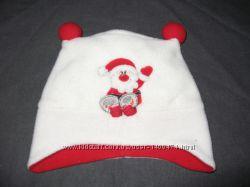 новогодние шапочки на 0-3 и 12-18 месяцев