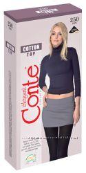 Conte. Cotton top  250 DEN. Теплые колготки с заниженной талией