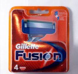 Gillette Fusion кассеты упаковка 4шт