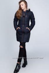Стильная теплая зимняя куртка удлиненного кроя