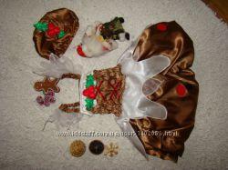 Карнавальное платье Имбирный пряник на 1-2 года