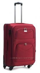 Тканевый чемодан малый 50 см на 4 колеса ручная кладь.
