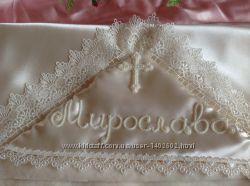 Изысканная утепленная Крыжма Ручная вышивка бисером