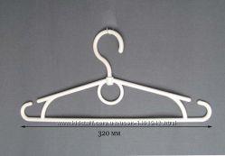 Плечики для одежды детские белые. Вешалки оптом