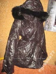 Тёплая куртка с нат. мех-пог до 54см