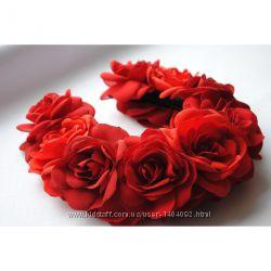 Ободок Красные розы