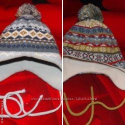 Теплые шапочки окружность головы 46-48 см. Подкладка флис.