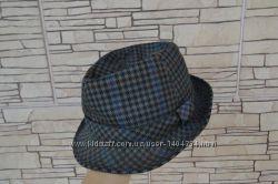 Шляпа шерсть модная клетка