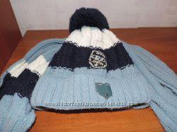 шапка на мальчика с шарфиком