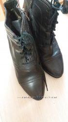 Женские, кожаные, демисезонные ботинки. Размер 38, длина по стельке 24 см