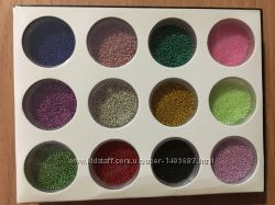 Бульенки для дизайна ногтей, набор 12 цветов