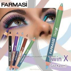 Двойной карандаш для век Twin X, 11 г farmasi Фармаси