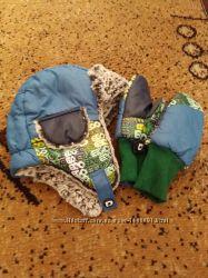 Зимняя шапка  рукавички.