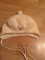 Зимняя шапочка для девочки ог 46-47см