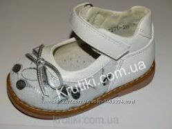 Кожаные детские туфли для девочки Шалунишка размер 22