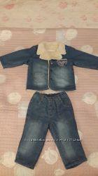 Джинсовые штаны и джинсовая куртка Bebessi Турция 12 мес. 80 см.