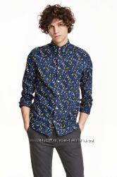модные и практичные мужские рубашки  H&M . распродажа