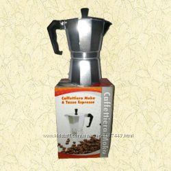 Кофеварка гейзерная алюминий на 6 чашек