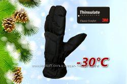 Лыжные мужские перчатки р. L, XL Thinsulate70 Faded Glory США