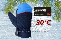 Лыжные детские рукавицы флис Thinsulate40 Faded Glory США