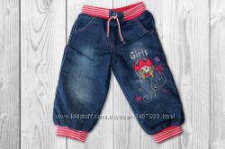 Теплые джинсы на флисе для девочки р. 74, 80 Турция