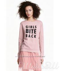 Свитшот с принтом H&M розовый