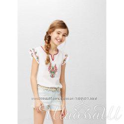 Блуза хлопковая с вышивкой Mango