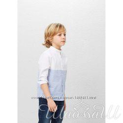 Комбинированная хлопковая рубашка Манго