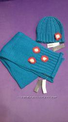 Комплект шапка и шарф для девочки в ассортименте