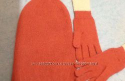 Шапка и перчатки H&M