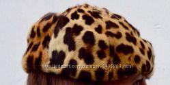 Берет и воротник из леопарда