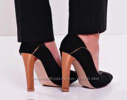 Туфли лодочки на каблуке-столбике