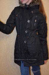 Куртка парка черная, молодежная, стильная