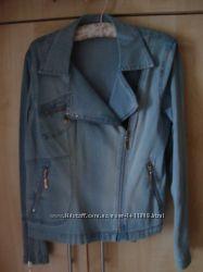 Пиджак-куртка косуха джинсовый 48р.