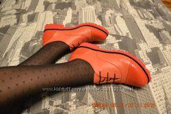 Туфли комбинированные нат. кожа, лак.