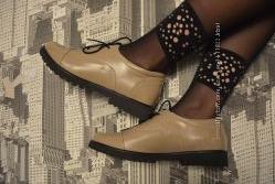 Туфли комбинированные нат. кожа, лак
