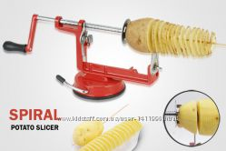 Овощерезка для спиральных чипсов. Машинка для спиральной нарезки картофеля